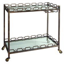 Nicoline Serving Cart in Brass Patina