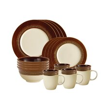 Paula Deen Southern Charm 16 Piece Dinnerware Set in Brown