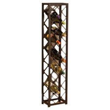 15 Bottle Wine Rack in Brown