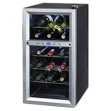 Contemporary 18 Bottle Thermoelectric Wine Refrigerator in Black