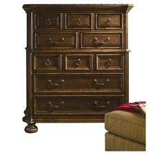 Bolero 10 Drawer Chest in Cherry & Walnut