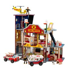 Deluxe Fire Rescue Set in Red & Blue