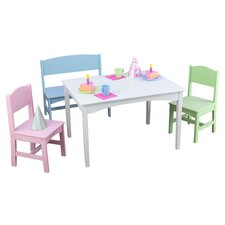 Nantucket 4 Piece Table & Chair Set