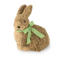 Natural Sitting Bunny Figurine