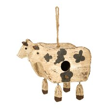 Cow Hanging Birdhouse