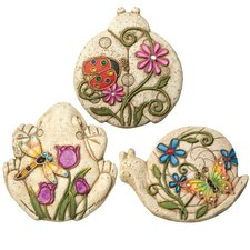 3 Piece Critter Stepping Stone Set