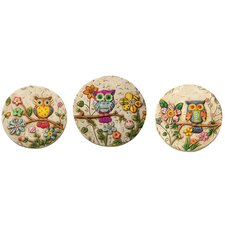 Owl Stepping Stone (Set of 3)