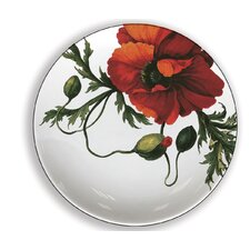 "Papaver 4"" Melamine Wine Glass TidBit Topper Plates (Set of 4)"