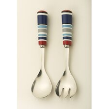 2 Piece Patriotic Picnic Salad Server Set