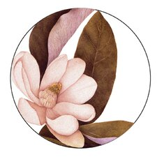 "Magnolia 4"" Melamine Wine Glass TidBit Topper Plates (Set of 4)"