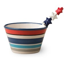 2 Piece Patriotic Picnic Bowl and Spreader Set