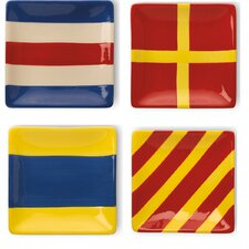 "5"" Nautical Flags Plates (Set of 4)"