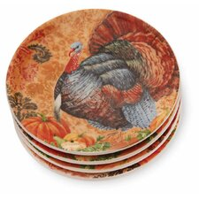 "Turkey 5"" Tidbit Plate (Set of 4)"