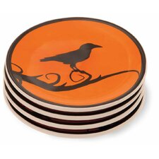 "Hallowchick 5"" Tidbit Plate (Set of 4)"