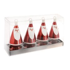 Santa Ornament and Place Card Holder (Set of 4)