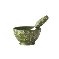 Holly Ceramic Bowl and Spreader Set
