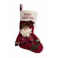 "15.5"" Merry Christmas Santa Stocking"