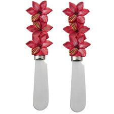 Holiday Flowers Spreader (Set of 2)
