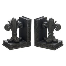 Fleur De Lis Library Book Ends (Set of 2)