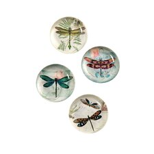 <strong>October Hill</strong> Dragonflies Magnets (Set of 4)