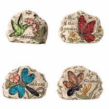 <strong>October Hill</strong> Garden Words Stones (Set of 4)