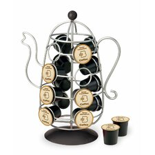 Coffee Pot K-Cup Carousel in Chrome