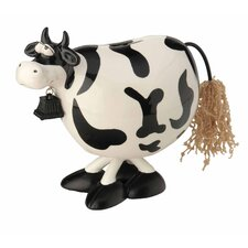 Bobble Cow Bank Figurine