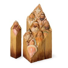<strong>October Hill</strong> 9 Piece Nativity Blocks Assortment Holiday Accent Set