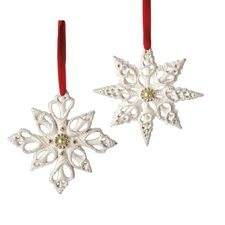 Shell Snowflake Ornaments (Set of 6)