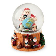 <strong>October Hill</strong> Santa and Globe Musical Snow Globe
