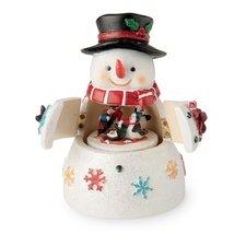 Musical Snowmen with Revolving Penguins