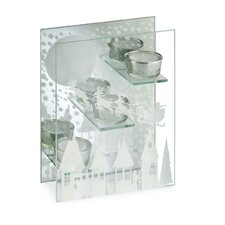 Santa Sleigh Glass / Mirrored Votive