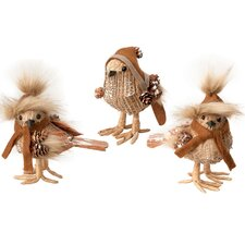 3 Piece The Johanson Bird Girls Holiday Accents Set