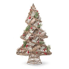 Berry and Cone Pine Tree Holiday Accents