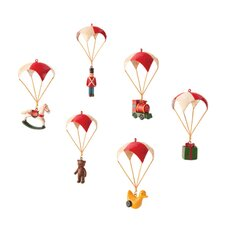 <strong>October Hill</strong> 6 Piece Nostalgic Parachute Ornament Set