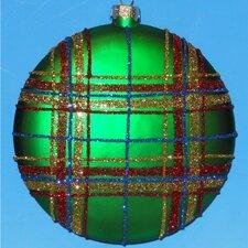 Plaid Disc Ornaments (Set of 4)