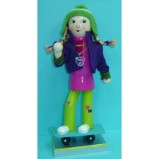 Skateboard Girl Nutcracker
