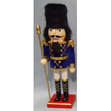 Painted Wood Velvet Jacket Grenadier Nutcracker