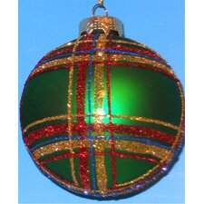 Plaid Ball Ornaments (Box of 4)