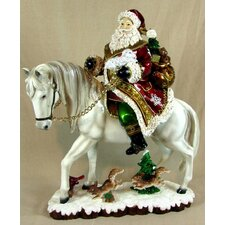 Santa on White Horse with Animals