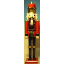 King Painted Wood Nutcracker