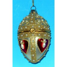 Heart Faberge Style Opening Egg Ornament