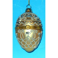 Faberge Style Opening Substantial Egg Ornament