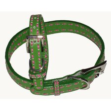 <strong>A Pet's World</strong> Saddle Stitch Leather Dog Collar