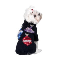 <strong>A Pet's World</strong> Sequins and Beads Ornaments Christmas Dog Sweater