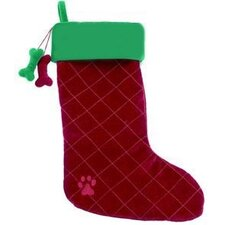 Dangling Dog Bone Christmas Stocking