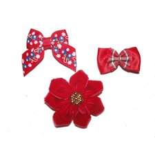 <strong>A Pet's World</strong> Holiday Dog Barrettes (3 Pieces)