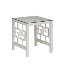 Greek Key End Table