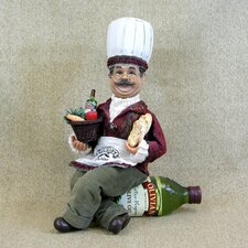 Classic Home Chef on Oil Bottle Holder Figurine