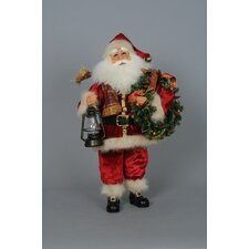 Crakewood Lighted Santa with Wreath